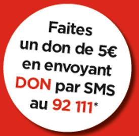 Faire un don par SMS