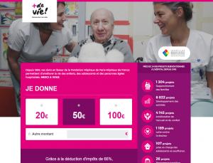 Don en ligne +de Vie