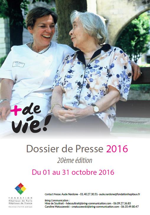 Visuel dossier de presse +de Vie 2016