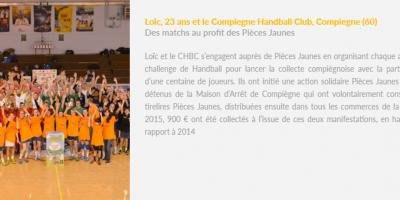 Club de Hand Ball Ambassadeur Pièces Jaunes