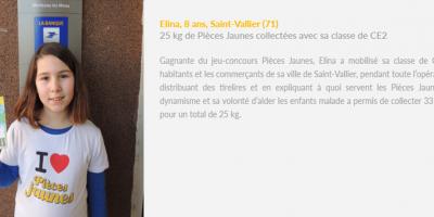 Elina, Ambassadrice Pièces Jaunes