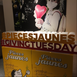 Giving Tuesday Pièces Jaunes