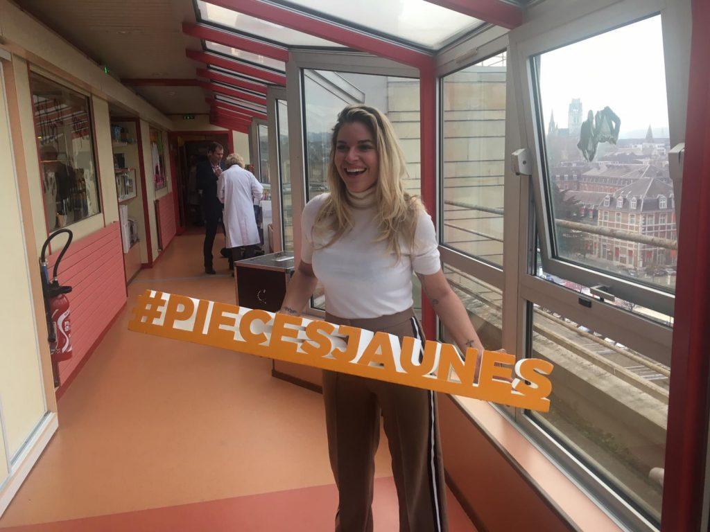 Sophie Tapie mobilisée pour les Pièces Jaunes