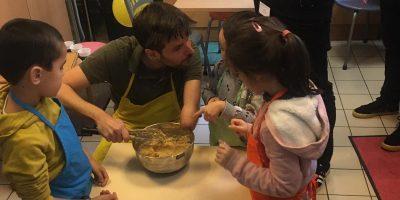 Atelier de cuisine à l'hôpital Necker-Enfants malades