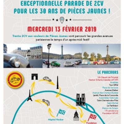 Parade 2CV Pièces Jaunes 2019