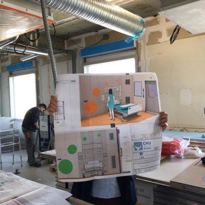 Travaux des Chambres de l'Extrême du Groupe Hospitalier Pellegrin-CHU de Bordeaux