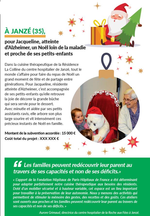Passer Noël au Centre Hospitalier de Janzé