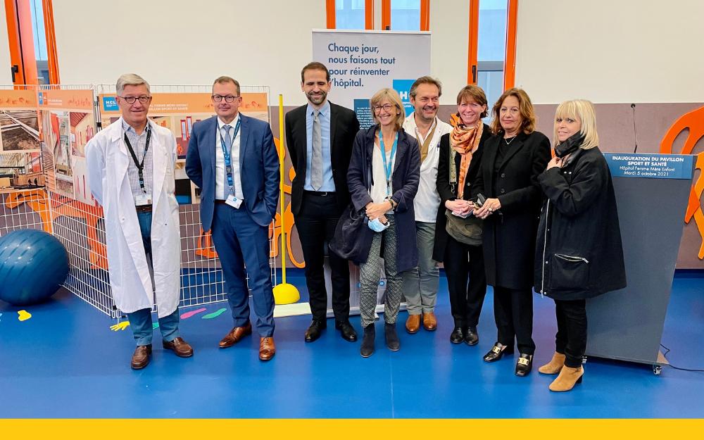Les dirigeants de l'HFME, l'équipe médicale et les partenaires ont inauguré le nouveau pavillon sport et santé de Bron